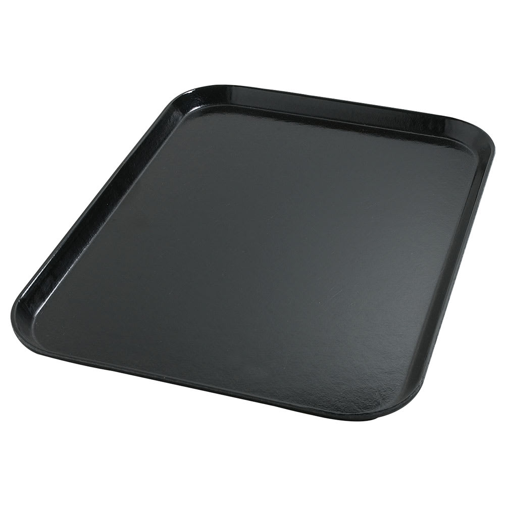 "Dinex DX1089I03 Flat Meal Delivery Tray, 14 x 18"", Onyx"