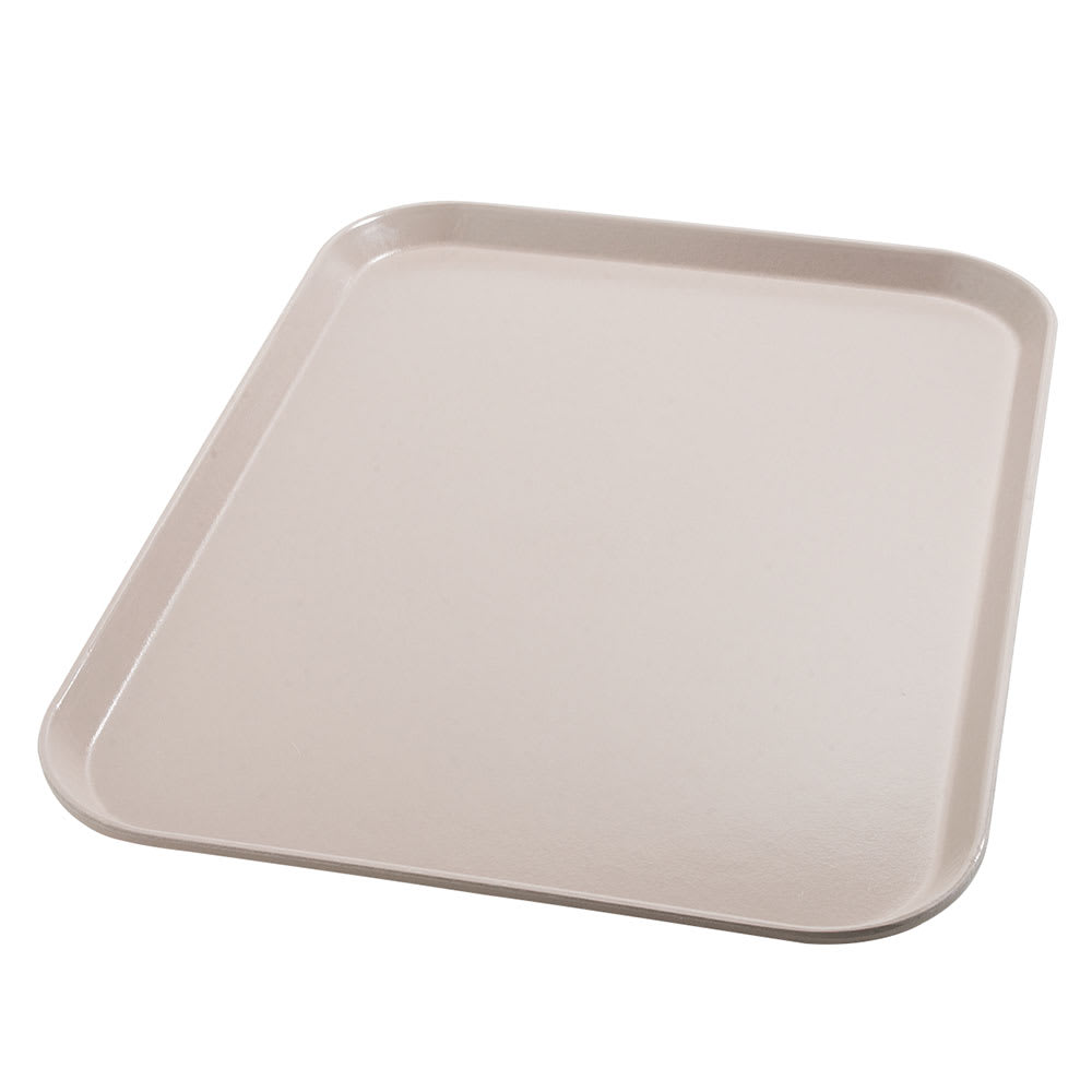 "Dinex DX1089I31 Fiberglass Flat Meal Delivery Tray, 14 x 18"", Latte"
