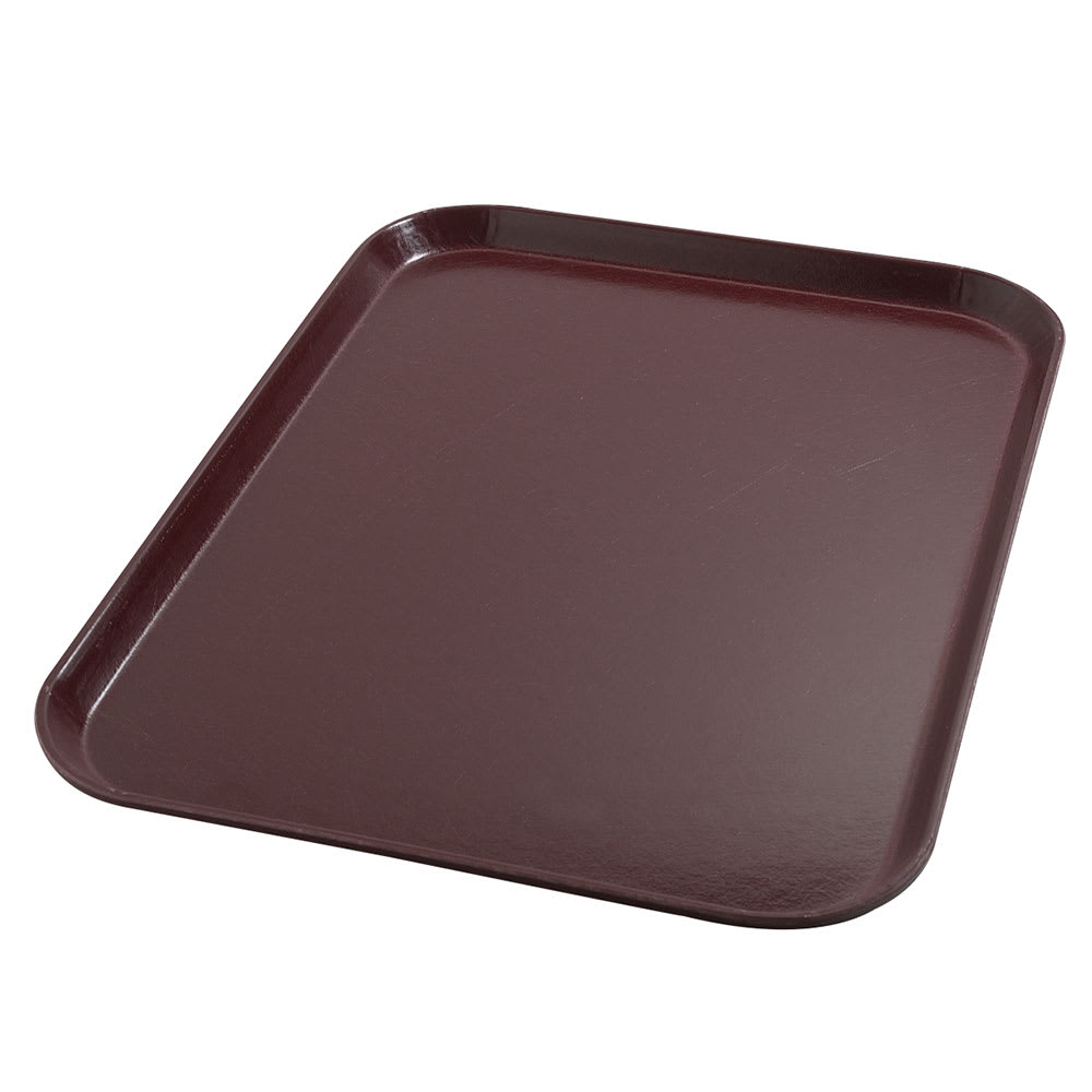 "Dinex DX1089I61 Fiberglass Flat Meal Delivery Tray, 14 x 18"", Cranberry"