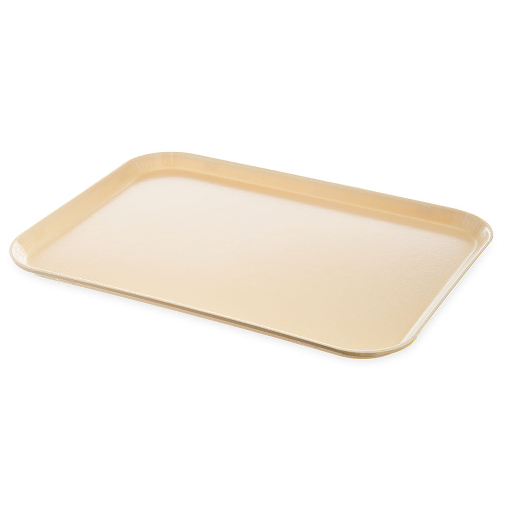 "Dinex DX1089M42 Fiberglass Flat Meal Delivery Tray, 15 x 20"", Ivory"
