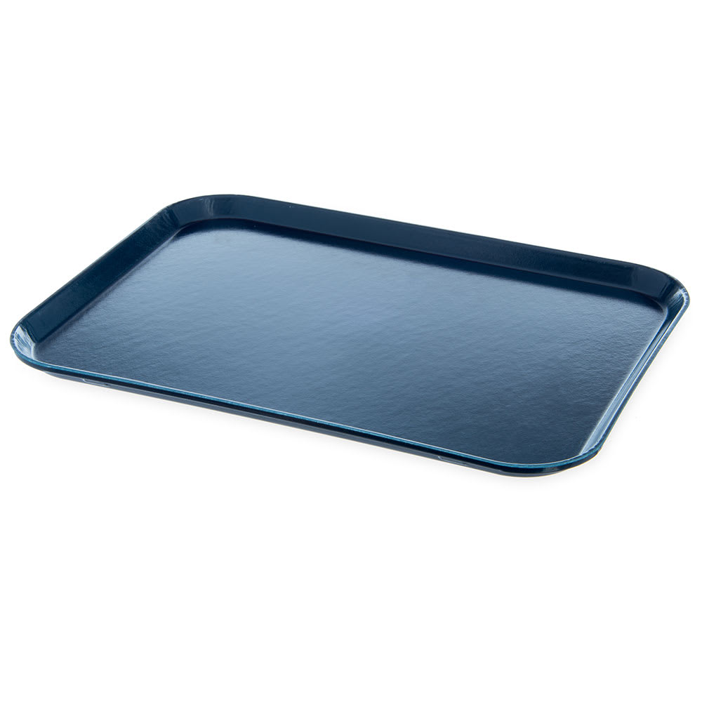"Dinex DX1089M50 Fiberglass Flat Meal Delivery Tray, 15 x 20"", Midnight Blue"