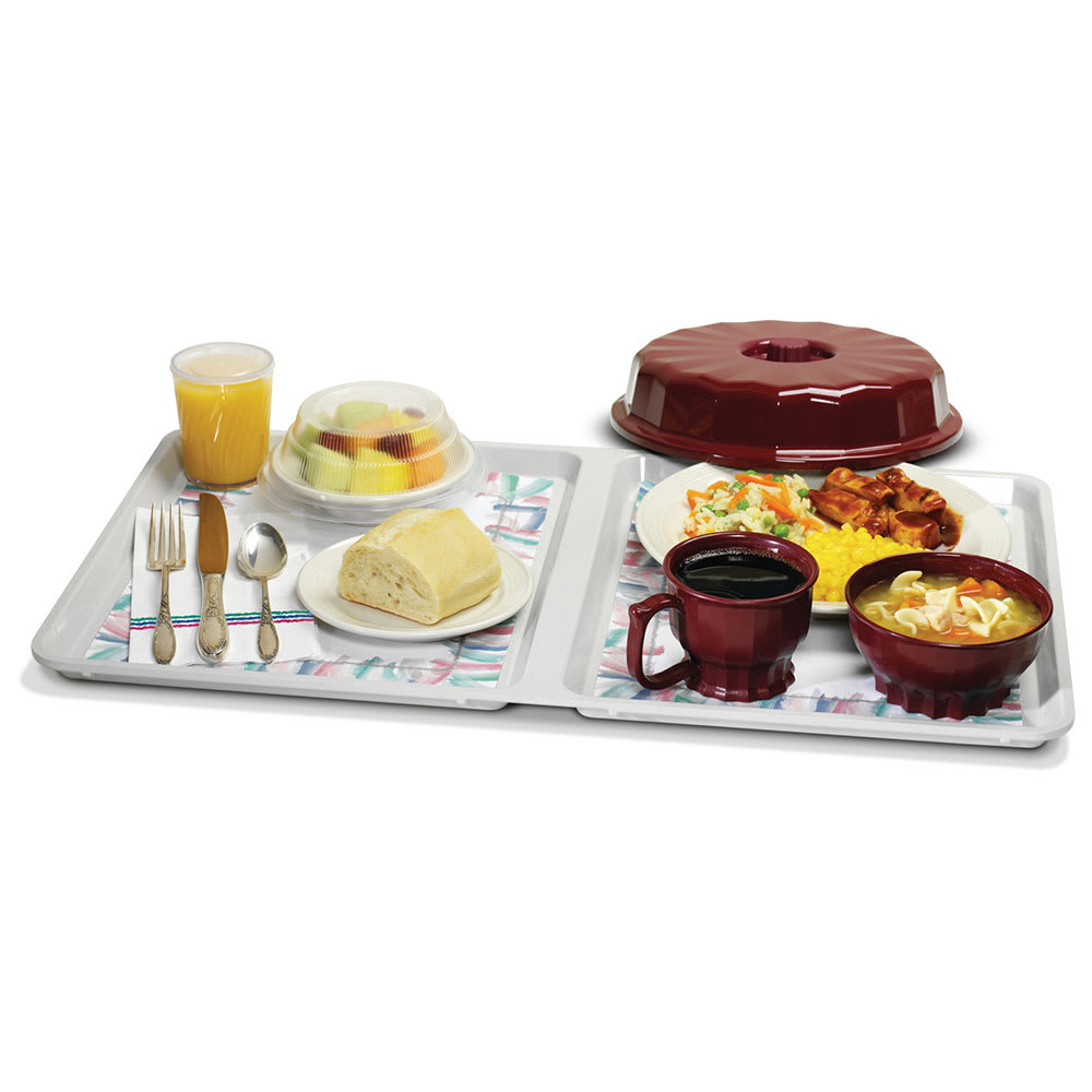 Dinex DX1089MOC23 Flat Meal Delivery Tray, 22 x 16 x 5.25""