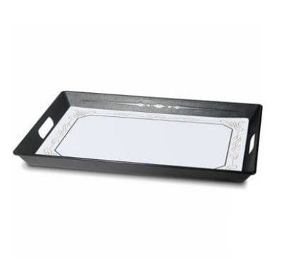 Dinex DX1089RS03 Polypropylene Room Service Tray, 21.5 x 15.5 x 1.5-in, Black