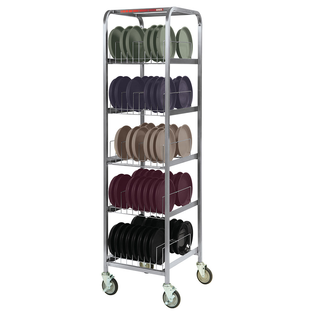 Dinex DX1173X80 5 Level Mobile Drying Rack for Dishes