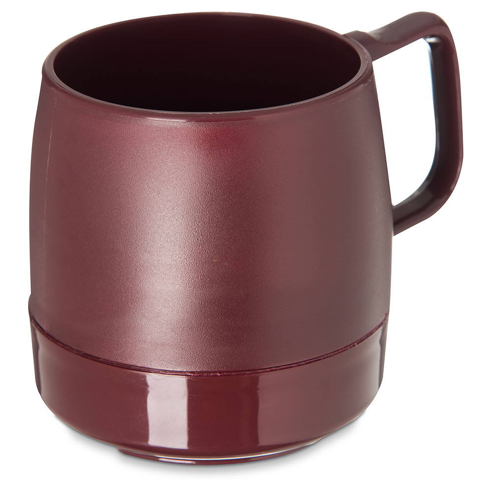 Dinex DX119761 8 oz Classic Insulated Stackable Mug, Cranberry