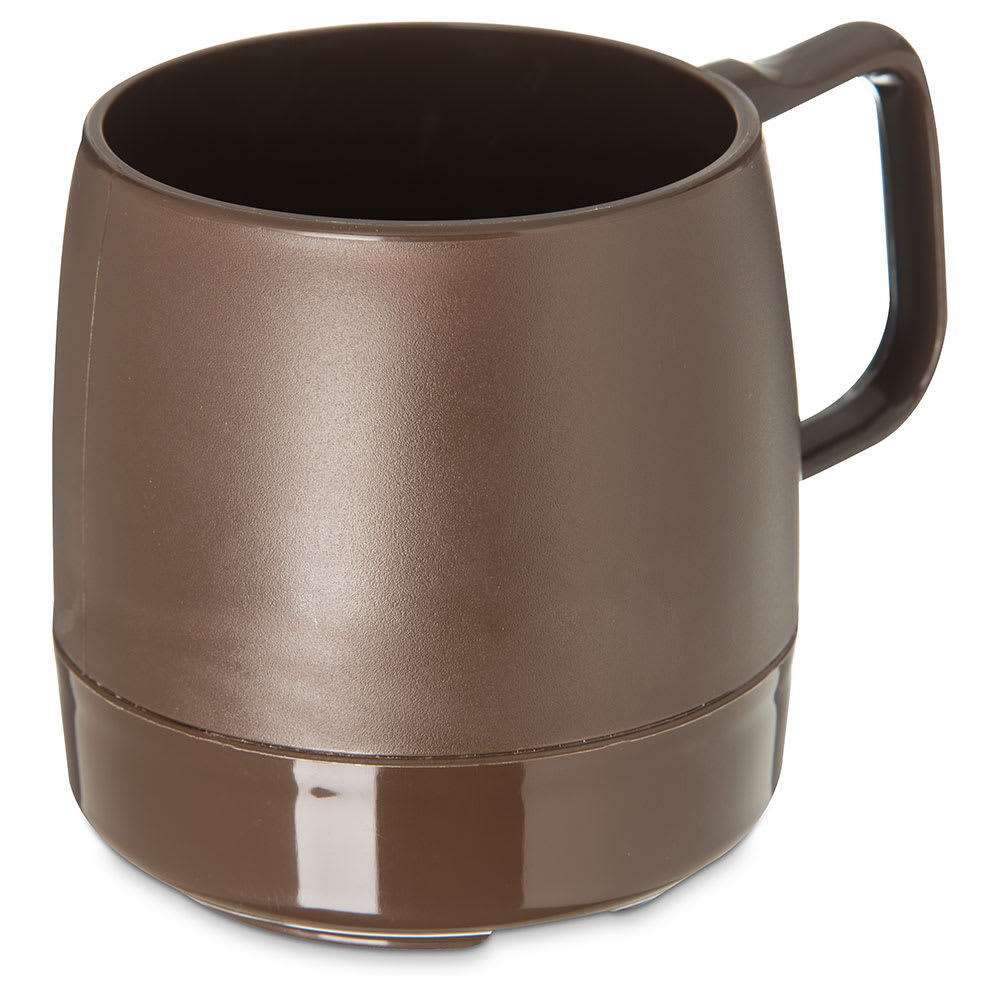 Dinex DX119769 8 oz Classic Insulated Stackable Mug, Chocolate
