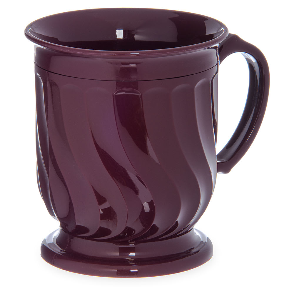 Dinex DX300061 8 oz Turnbury Insulated Pedestal Base Cup, Cranberry