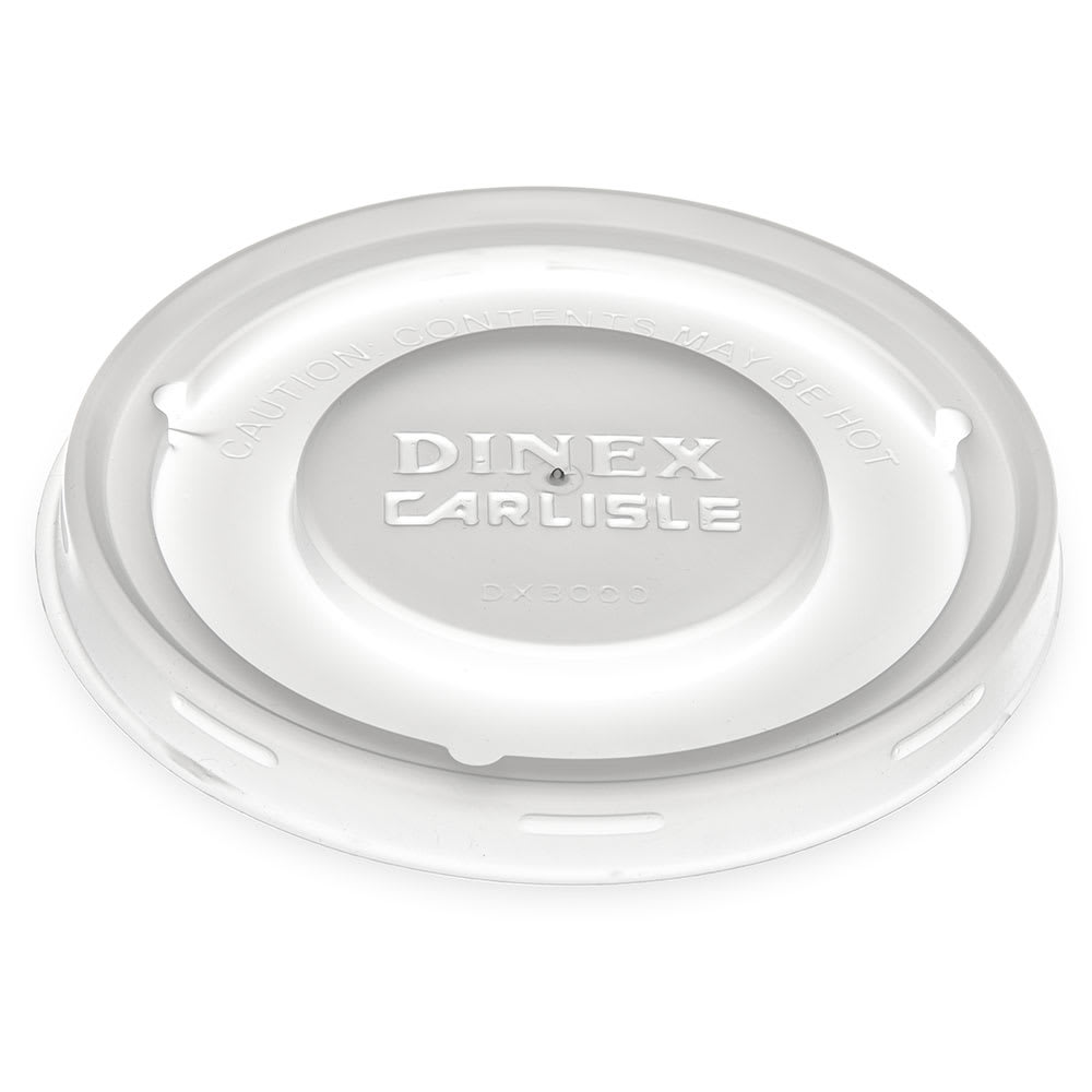 Dinex DX30008714 Disposable Lid for Turnbury Bowl & Mug, Clear