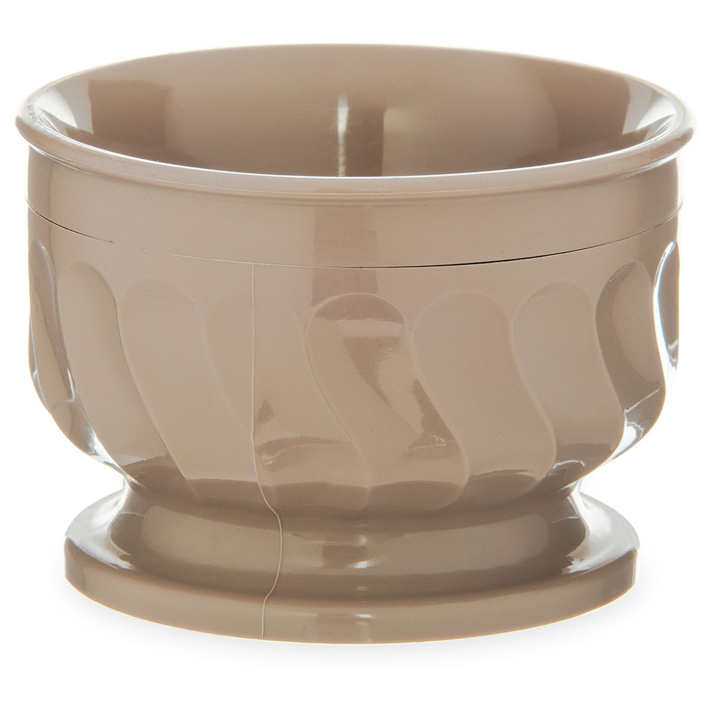 Dinex DX320031 5-oz Insulated Pedestal Base Bowl For Turnbury, Latte