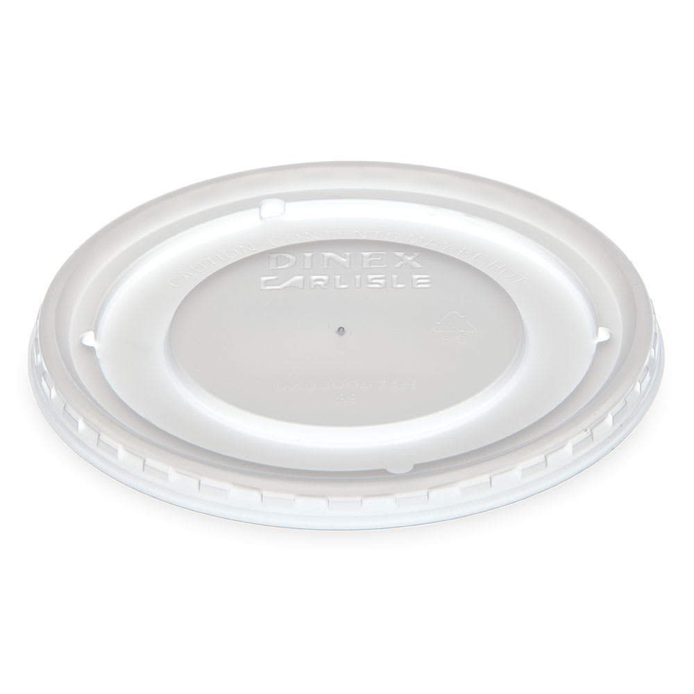 Dinex DX33008714 Disposable Lid for DX3300 Series Bowl, Clear