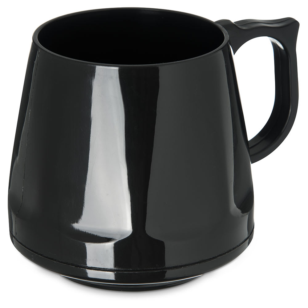 Dinex DX400003 8-oz Heritage Insulated Stackable Mug, Onyx