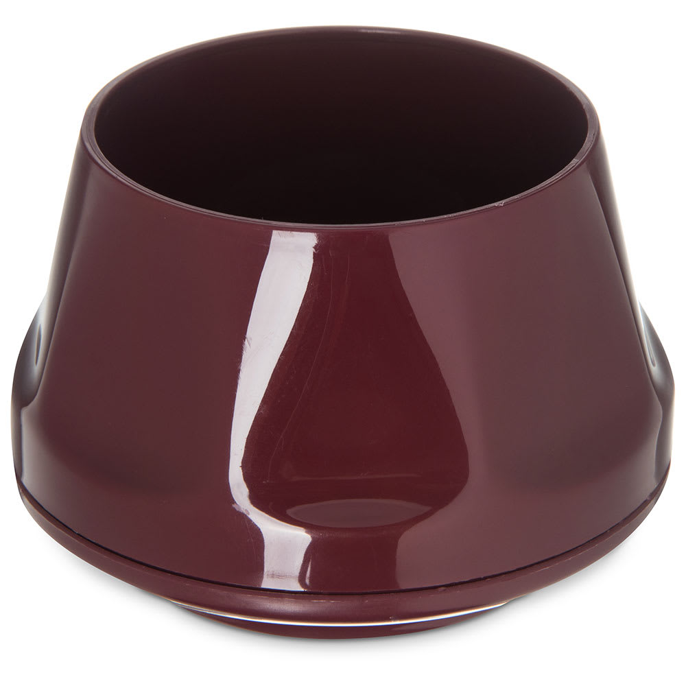 Dinex DX420061 5 oz Heritage Insulated Stackable Bowl, Cranberry
