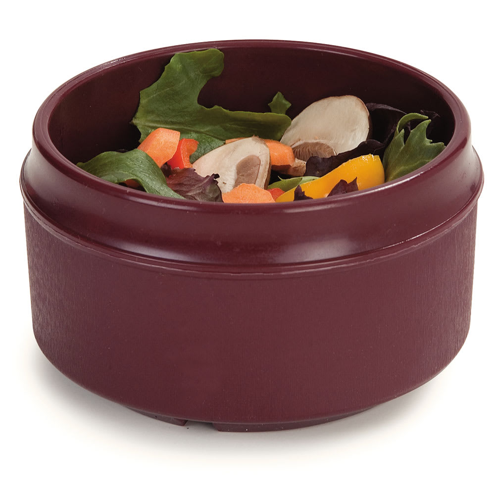 Dinex DX4B61 8 oz Tradition Insulated Reusable Soup Bowl, Cranberry