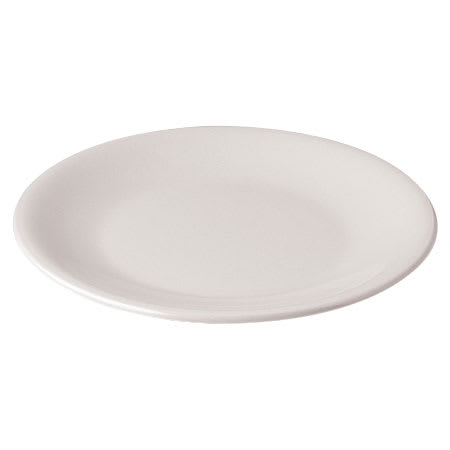 "Dinex DX4T902 9"" Round Reusable Therma-Cite Entree Dish, White"