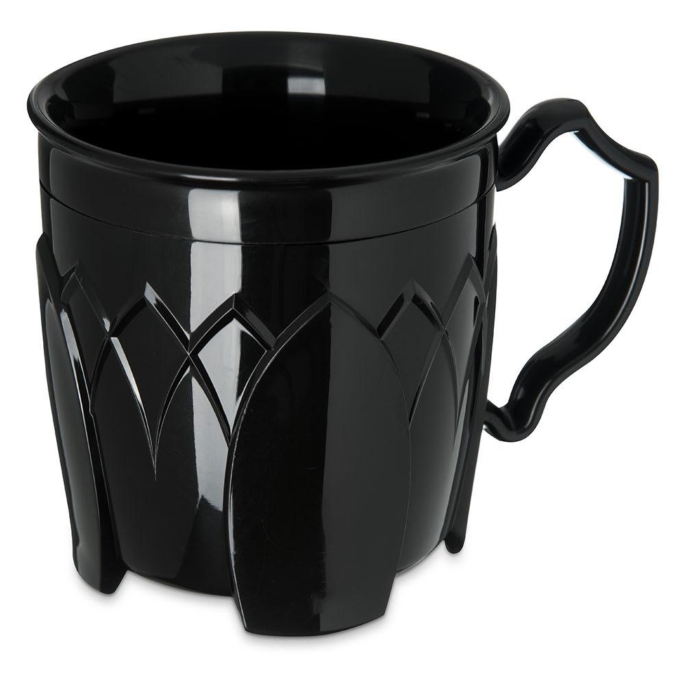Dinex DX5000-03 Insulated 8-oz Mug w/ Sculpture Design, Onyx