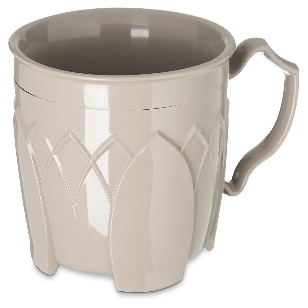 Dinex DX5000-31 Insulated 8 oz Mug w/ Sculpture Design, Latte