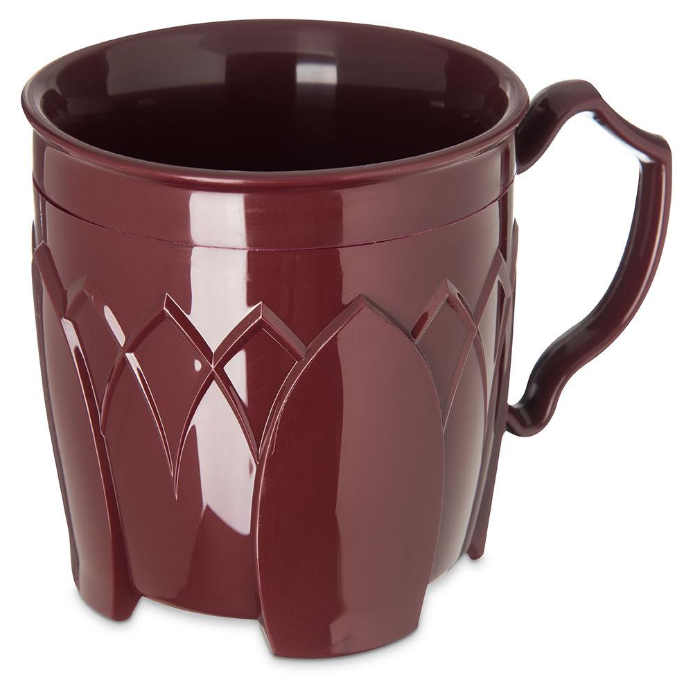 Dinex DX5000-61 Insulated 8 oz Mug w/ Sculpture Design, Cranberry