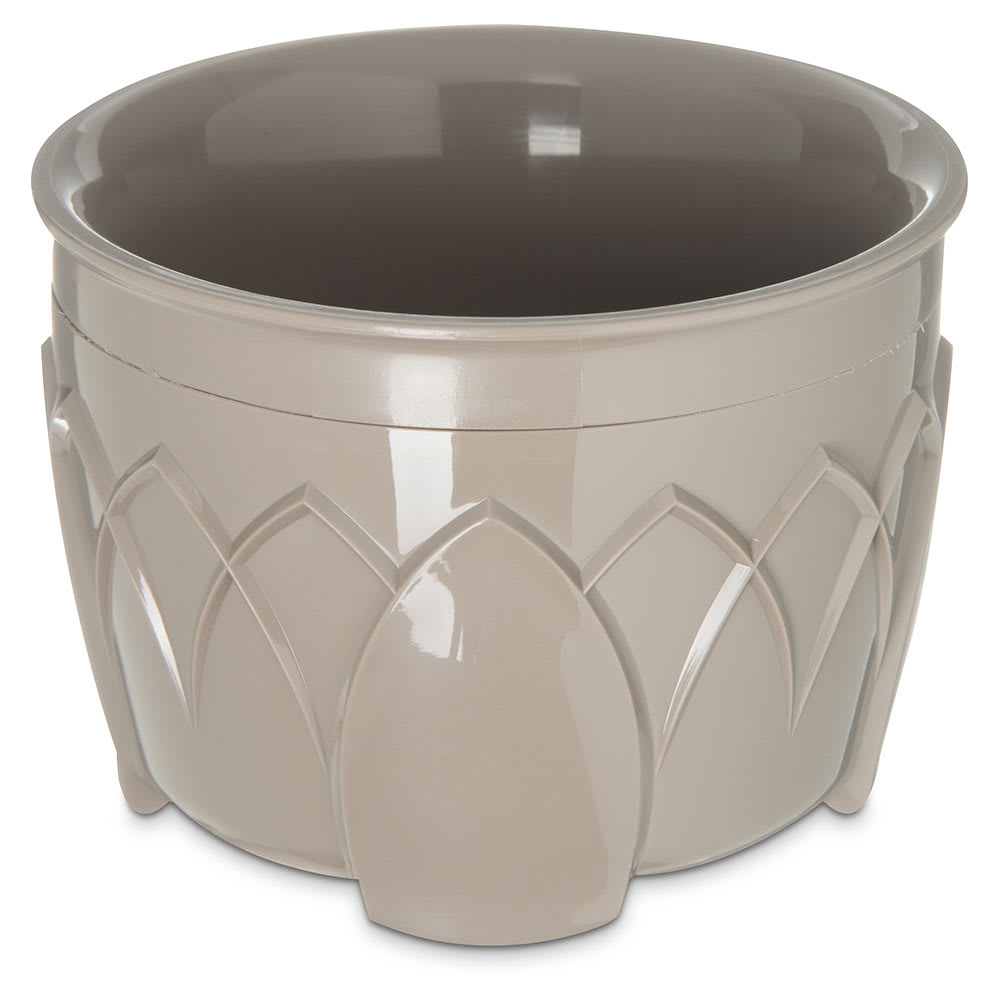 Dinex DX5200-31 Insulated 5-oz Bowl w/ Sculpture Design, Latte