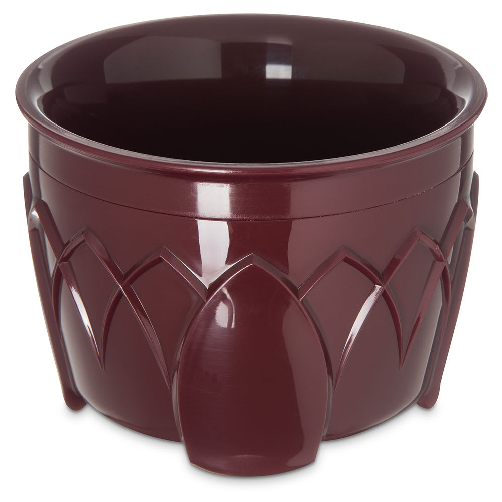 Dinex DX5200-61 Insulated 5-oz Bowl w/ Sculpture Design, Cranberry