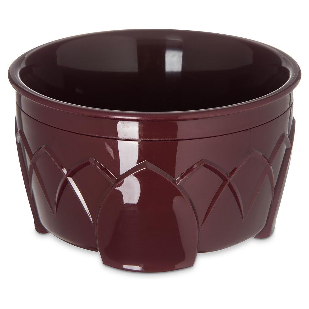 Dinex DX5300-61 Insulated 9 oz Bowl w/ Sculpture Design, Cranberry