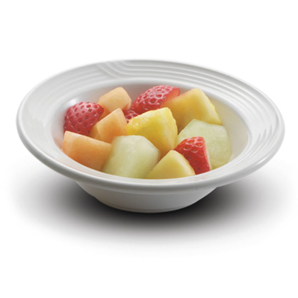"Dinex DX5CFNB02 5.75"" Embossed Fruit Dish, Ivory"