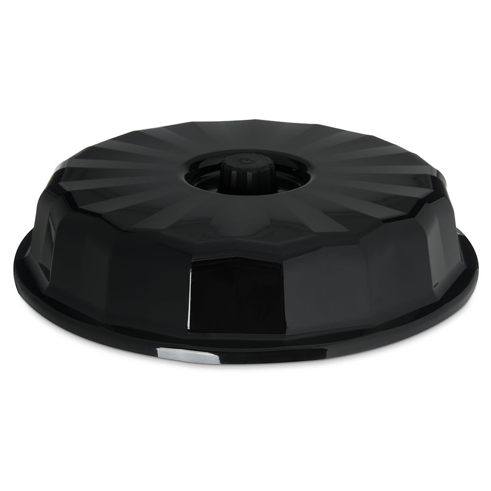 "Dinex DX9400B03 9"" Tropez Convection Thermalization Entree Dome w/ High Heat Resin, Onyx"