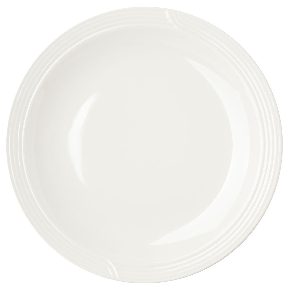 "Dinex DX9CP02 9"" Embossed Dinner Plate, Ivory"