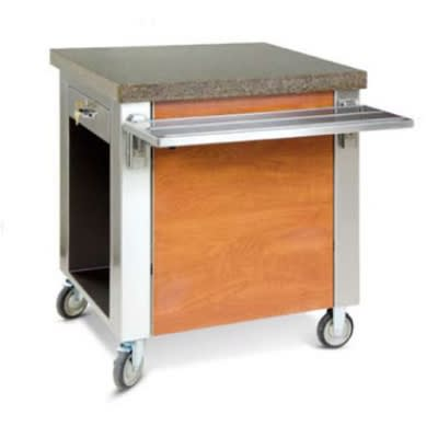 """Dinex DXDCSD 30"""" Cashier Stand w/ Drawer, Stainless Top, Front & End Panels"""