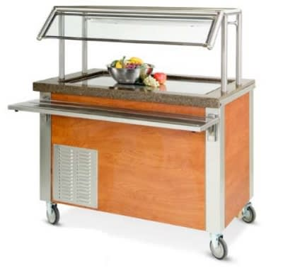 """Dinex DXDFT5 77"""" Frost Top Refrigerated Counter for (5) 12 x 20 x 1"""", 120V"""