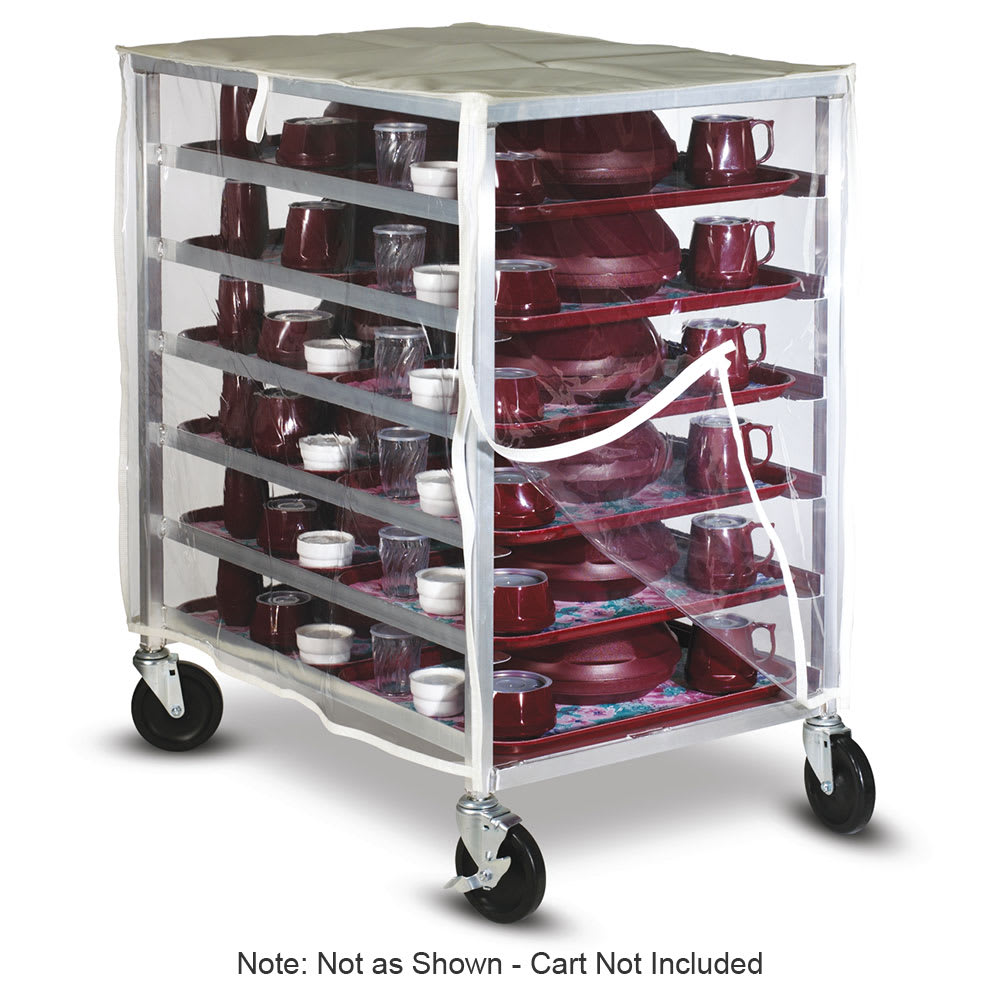 Dinex DXDHOR24RSTCR Cart Cover for DXDHOR20RST w/ Zipper Front Panel, Clear