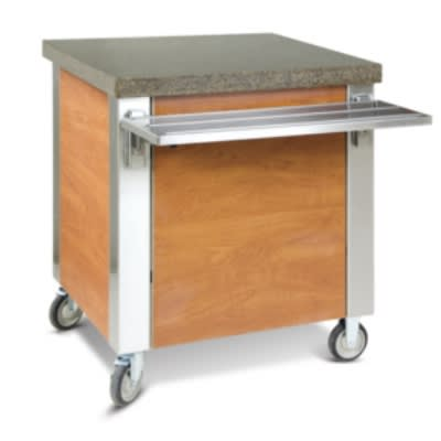 "Dinex DXDST3 49"" Solid Top Counter w/ 16 ga Stainless Top, 18 ga Sides & Ends"