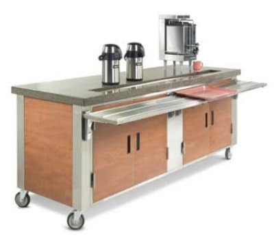 "Dinex DXDUS6 91"" Beverage Counter w/ Urn Trough, Stainless"