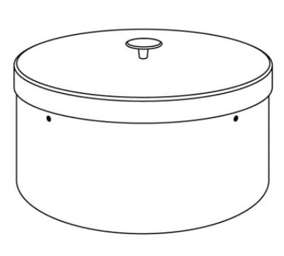 """Dinex DXIACPHC1012 10-1/8"""" Plate Heater Silo Cover"""