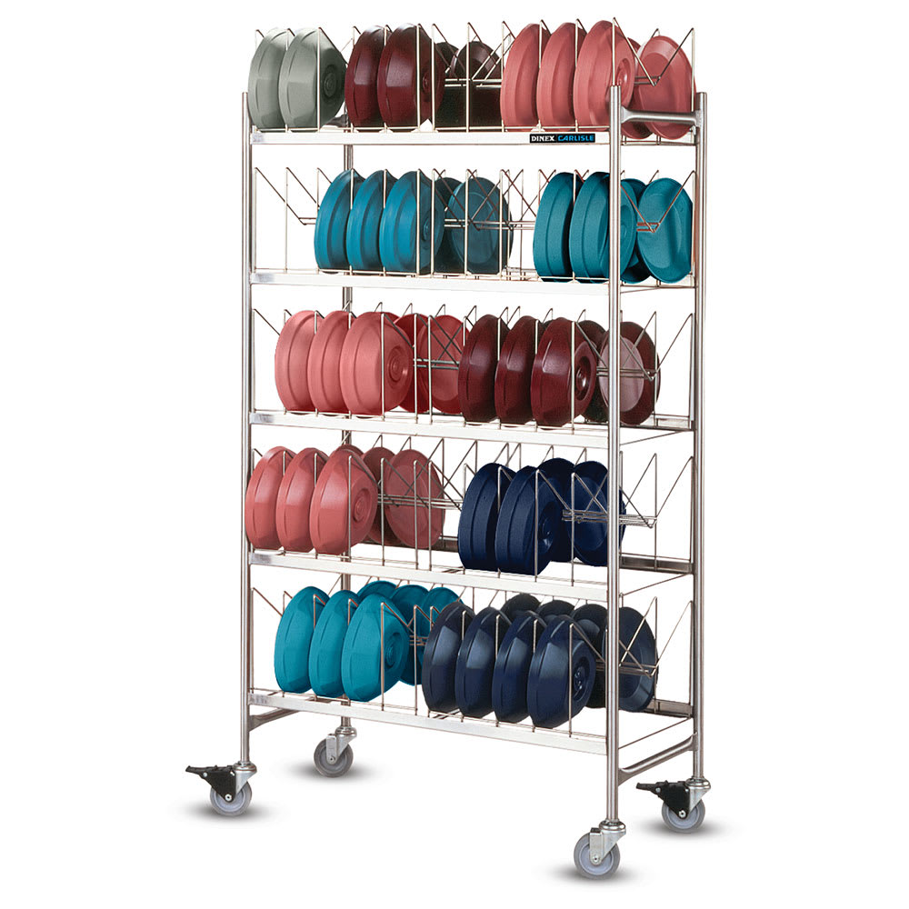 Dinex DXIBDRP100 5-Level Mobile Storage Rack for Dishes