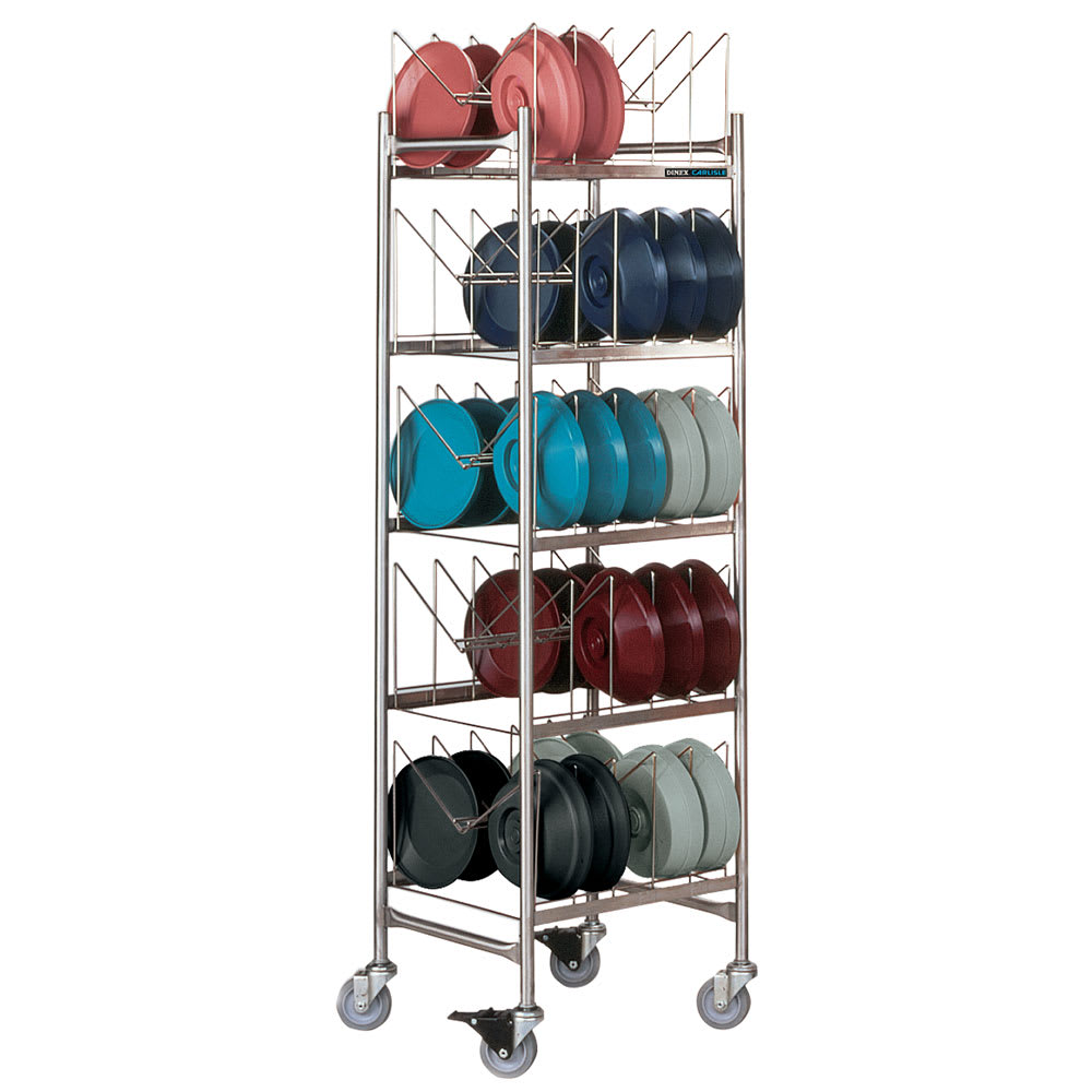 Dinex DXIBDRS270 5 Level Mobile Drying Rack for Dishes