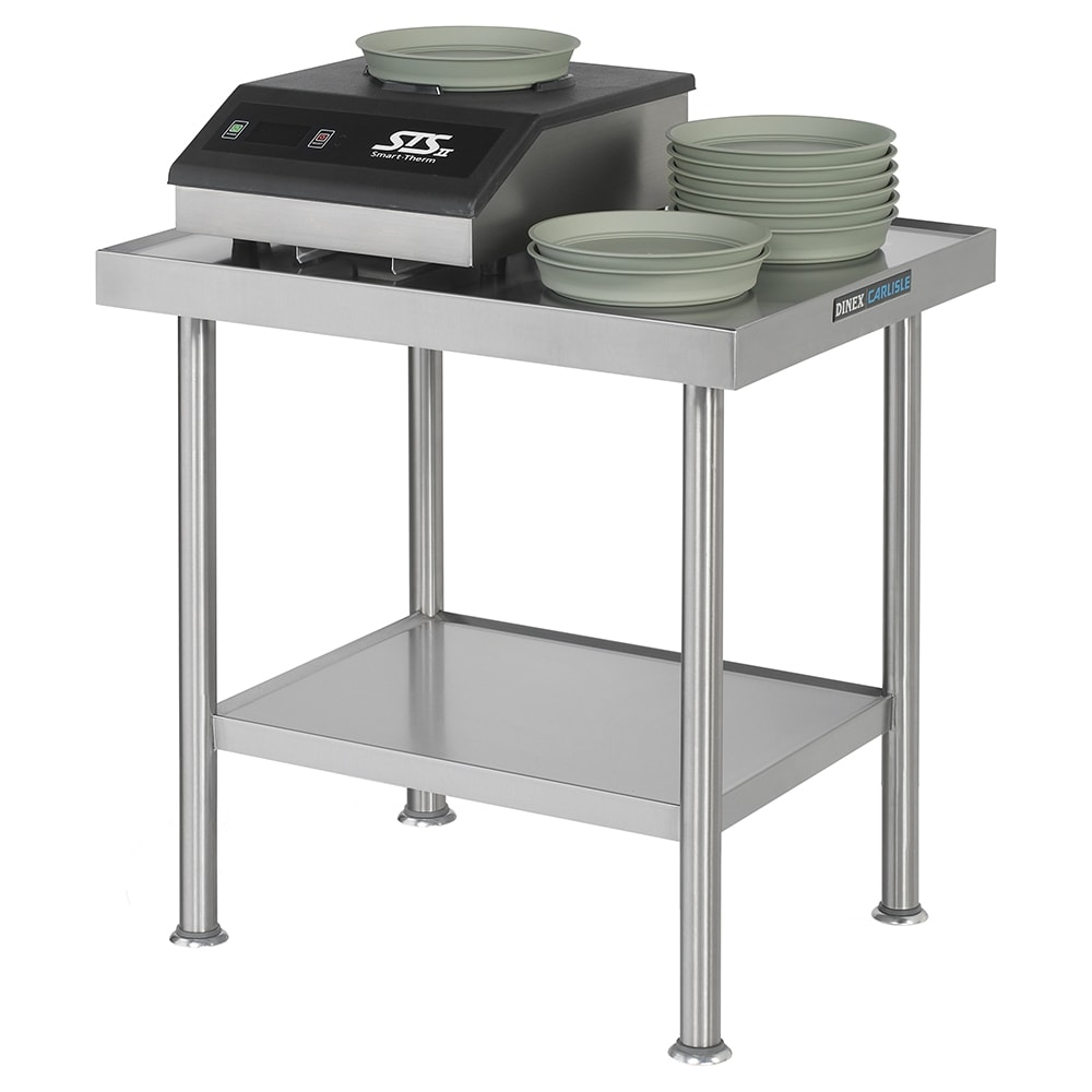 """Dinex DXICTABLE 30"""" x 24"""" Stationary Equipment Stand for Power-Therm™ Induction Charger, Undershelf"""