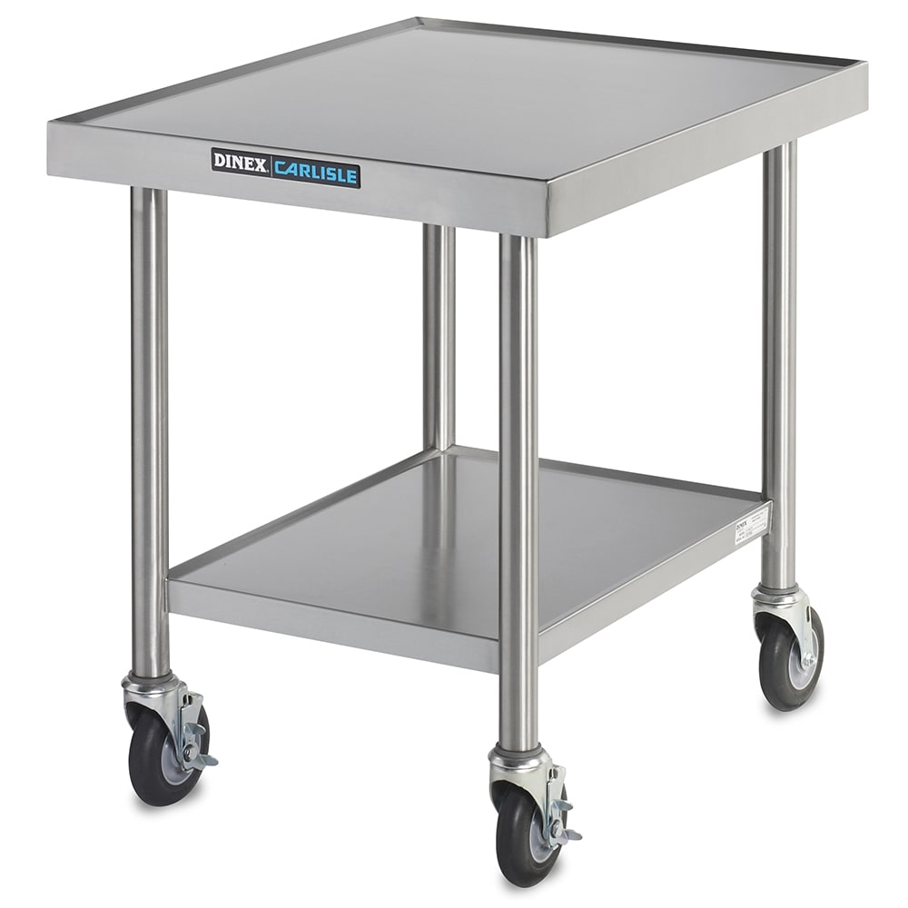 """Dinex DXICTABLEM 30"""" x 24"""" Mobile Equipment Stand for Power-Therm™ Induction Charger, Undershelf"""