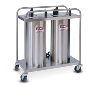 """Dinex DXIDP2O1012 10 1/8"""" Open Tube Plate Dispenser w/ 100 Plate Or 72 Bowl Capacity"""