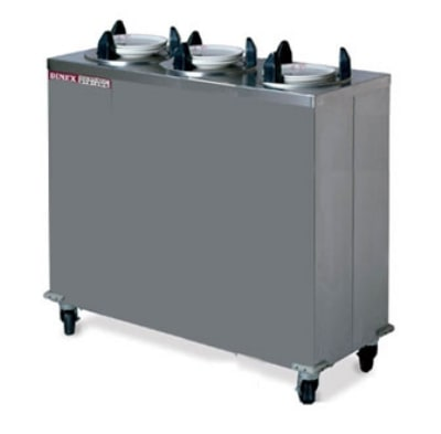 "Dinex DXIDP3E0912 9 1/8"" Enclosed Plate Dispenser w/ 150 Plate Or 107 Bowl Capacity"