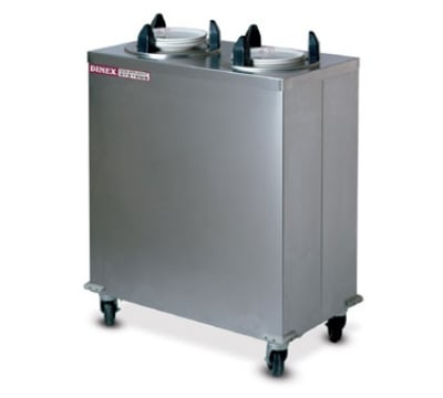 """Dinex DXIDPH2E0912 9 1/8"""" Enclosed Heated Plate Dispenser w/ 50 Plate Or 36 Bowl Capacity"""