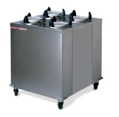 "Dinex DXIDPH4E0912 9-1/8"" Mobile Enclosed Heated Plate Dispenser w/ 4-Tube Frame"