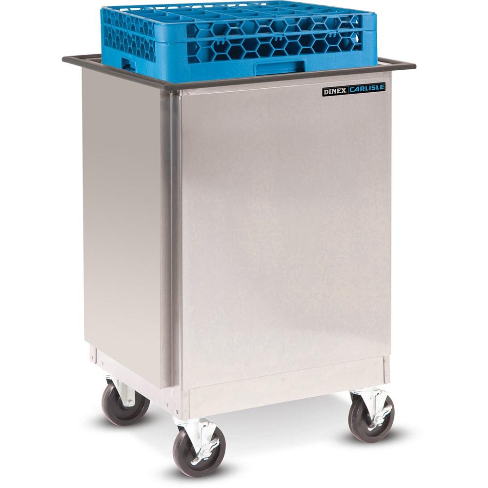 "Dinex DXIDRE1020 Enclosed Mobile Rack Dispenser w/ Self-Leveling for 10 x 20"""