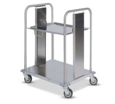 """Dinex DXIDRS2020 Open Mobile Rack Dispenser w/ Self-Leveling for 20 x 20"""""""