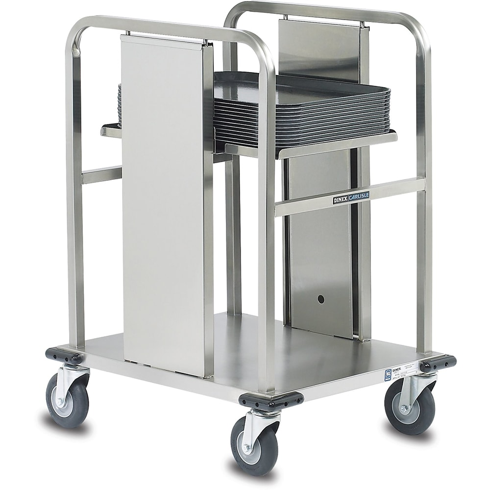 Dinex DXIDT1S1418 Open Mobile Tray Dispenser w/ 150 Tray Capacity, 14 x 18""