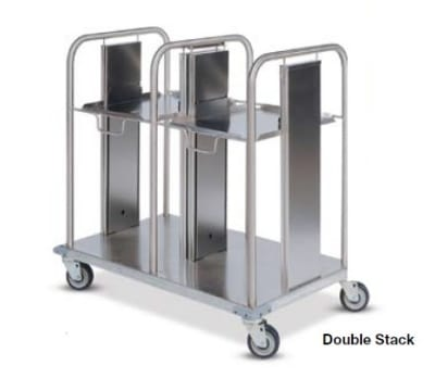 Dinex DXIDT2S1418 Double Open Mobile Tray Dispenser w/ 300 Tray Capacity, 14 x 18""