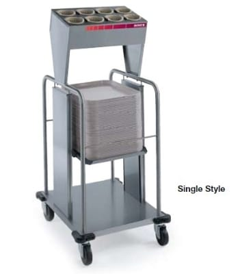 """Dinex DXIDTS1S1622 Open Single Tray Silverware Dispenser w/ 8 Cylinder, 16 x 22"""""""