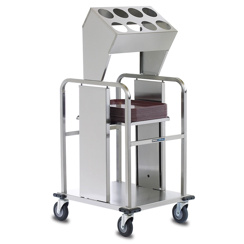 """Dinex DXIDTS2S1520 Open Double Tray Silverware Dispenser w/ 8-Cylinder, 15 x 20"""""""