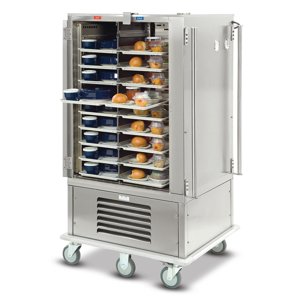 Dinex DXMOC20 20-Tray Combination Meal Delivery Cart, 120v