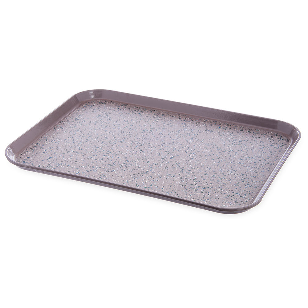 "Dinex DXSMC1520NSM31 Non-Skid Cafeteria Tray - Fiberglass, 15x20"", Latte"