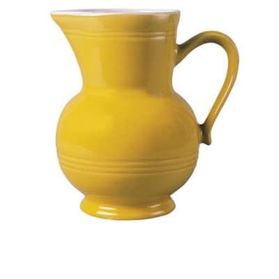 Emile Henry 031501 EA 1 qt Ceramic Pitcher, Citron Yellow